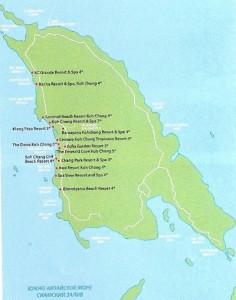 Карта о. Чанг