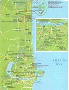 Карта Дубаи Сити