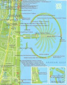 Карта Джумейры