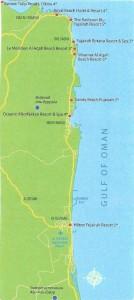 Карта Фуджейры