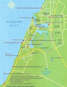 Карта Рас- Эль-Хаймы