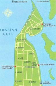 Карта Умм-Эль-Кувейна
